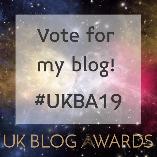 Vote for me! Badge 2 #UKBA19
